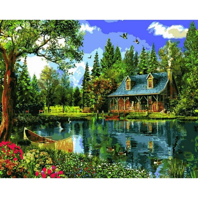 Картина по номерам Хрустальное озеро, 40x50 см., Babylon