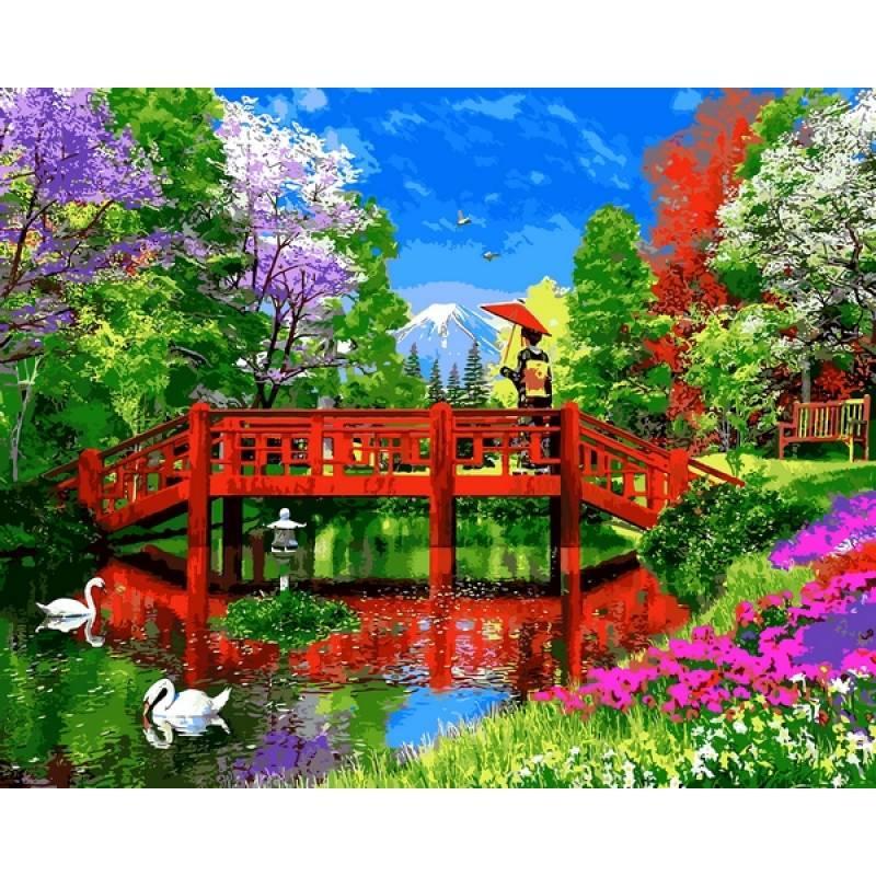 Картина по номерам Озеро Фудзи, 40x50 см., Babylon