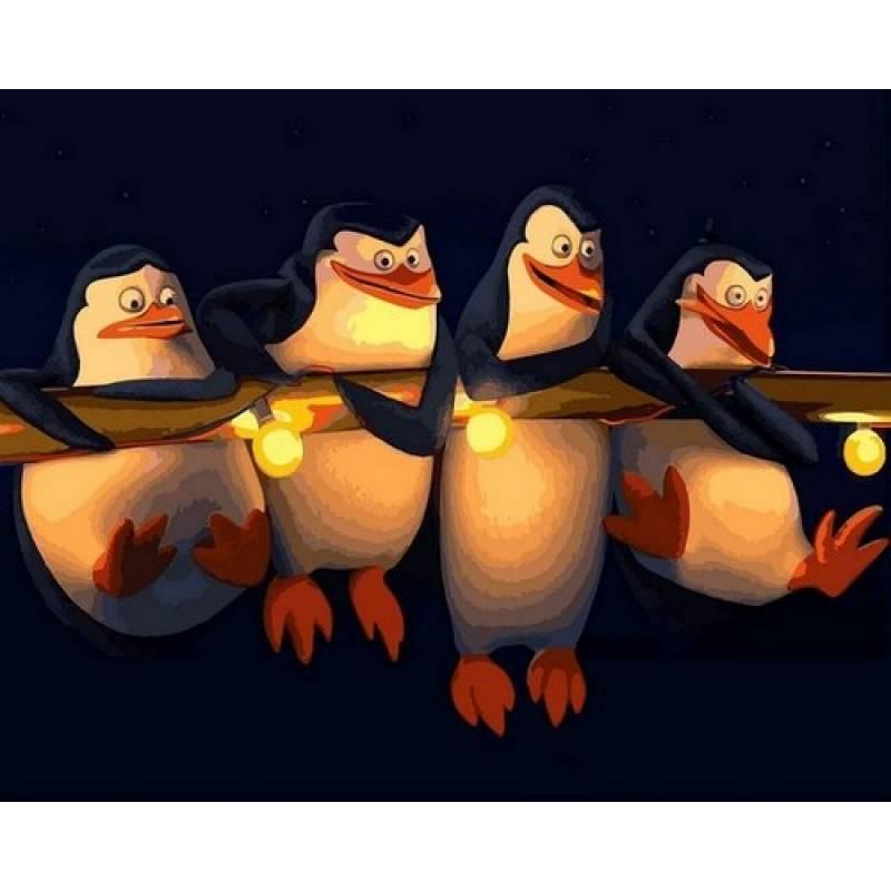 Картина по номерам Пингвины Мадагаскара, 40x50 см., Mariposa