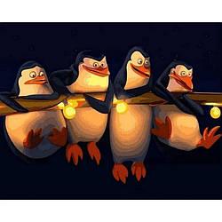Картина по номерам Q2186 Пингвины Мадагаскара, 40x50 см., Mariposa
