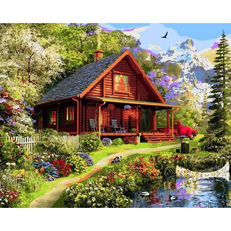Картина по номерам Домик мечты, 40x50 см., Mariposa