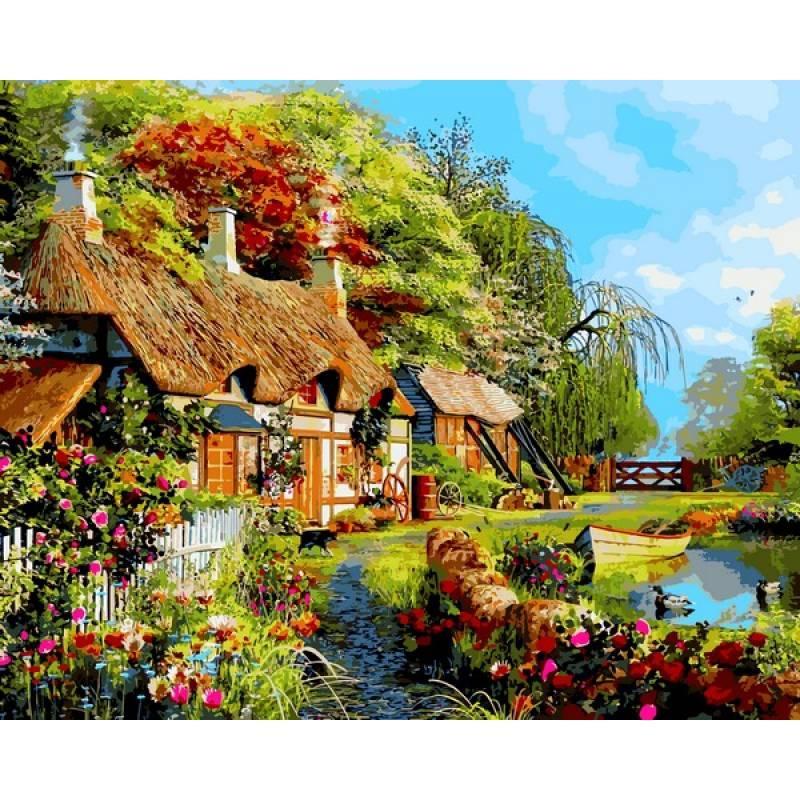 Картина по номерам Дом в цветах, 40x50 см., Mariposa