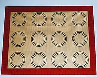 Профессиональный силиконовый коврик для выпекания армированный с разметкой GA Dynasty 40*30 см 21011