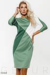 Спортивное платье с рукавом 3/4 бело-зеленое, фото 2