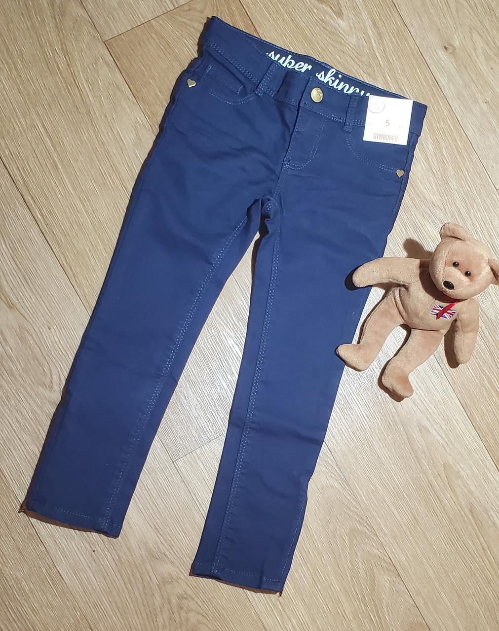 Темно синие брюки скинни с молниями внизу на девочку Gymboree (США) (Размер 6Т)