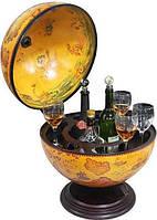 Глобус бар настольный (диаметр сферы 420 мм) коричневый