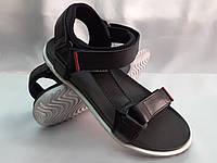 Стильные кожаные комфортные чёрные сандалии Bertoni, фото 1