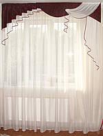 Жесткий ламбрекен  2м Люкс бордо с черным, фото 1