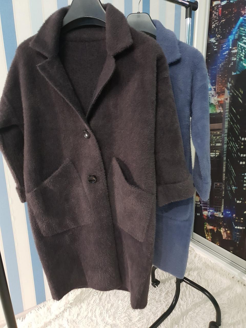 Пальто-кардиган с рукавом 7/8 из шерсти альпака
