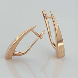 Золотые серьги без камней СП20301