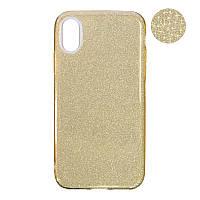 Чехол Remax Glitter Silicon Case iPhone X Gold