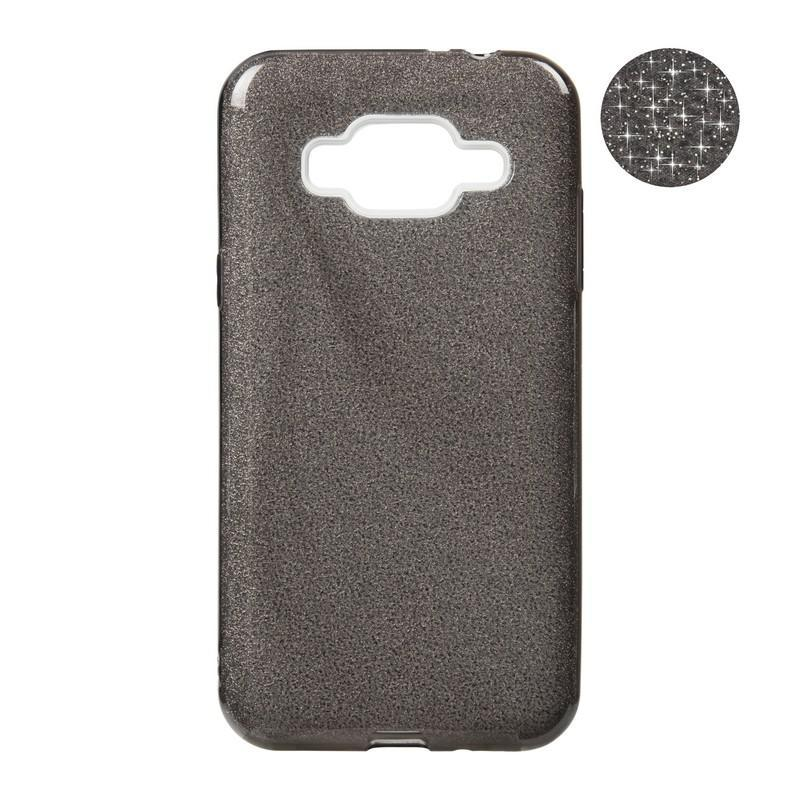 Чехол Remax Glitter Silicon Case Samsung J330 (J3-2017) Black