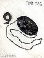 Маленькая черная сумочка мини сумка женская на цепочке брендовая кожзам 10870