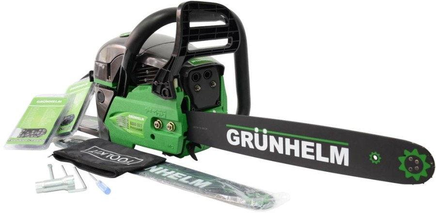 Бензопила GRUNHELM GS-62, 18/2 Professional (2 шины, 2 цепи)