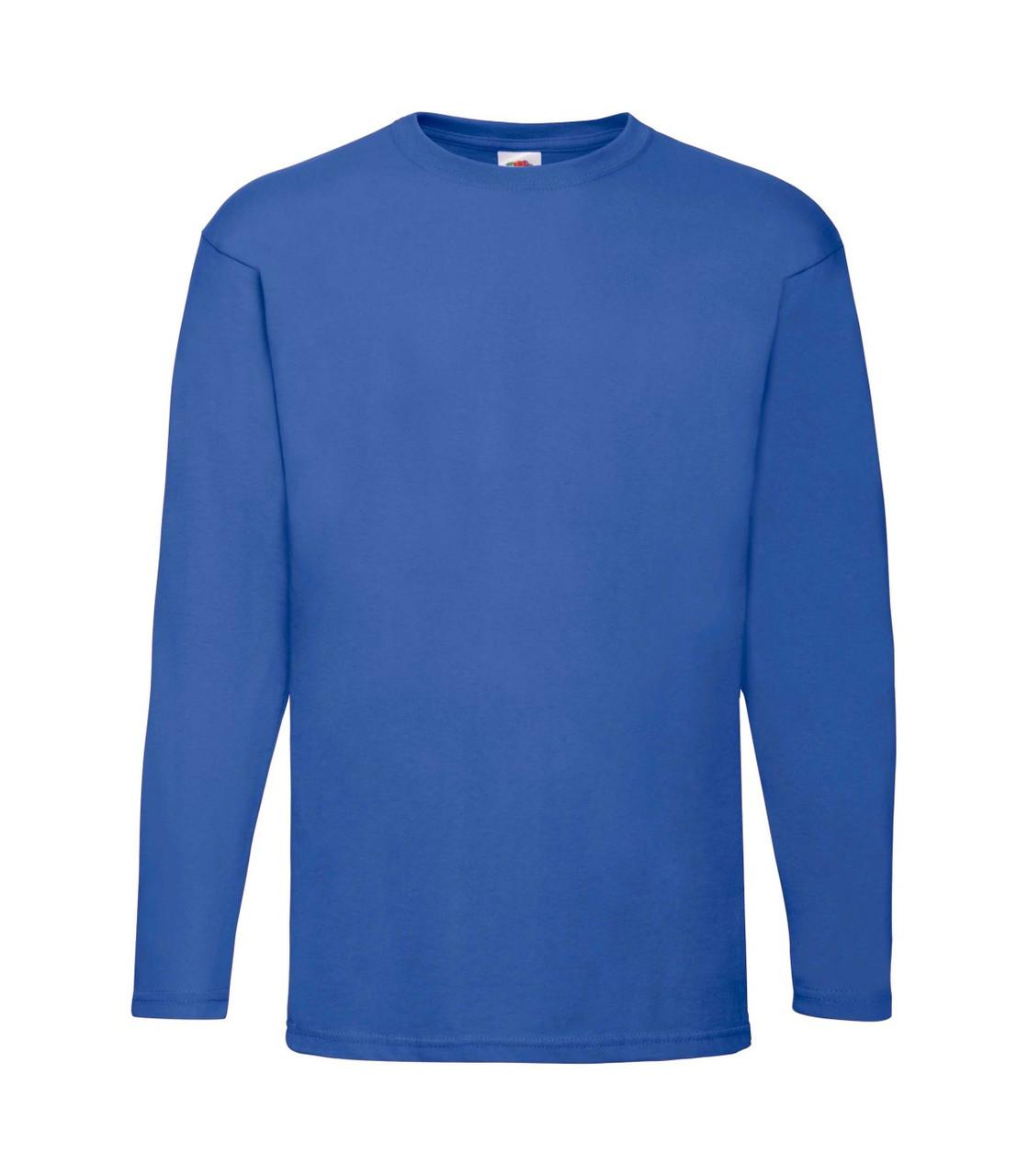 Мужская футболка с длинным рукавом синяя 038-51