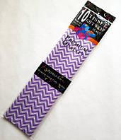Бумага Тишью 50х65см (10 листов) Полоска фиолетовая