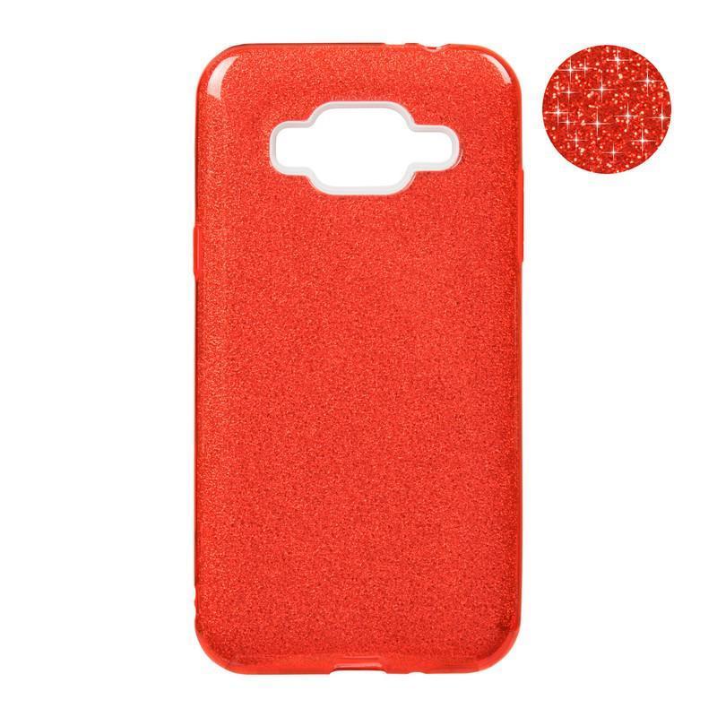 Чехол Remax Glitter Silicon Case Samsung J700 (J7) Red