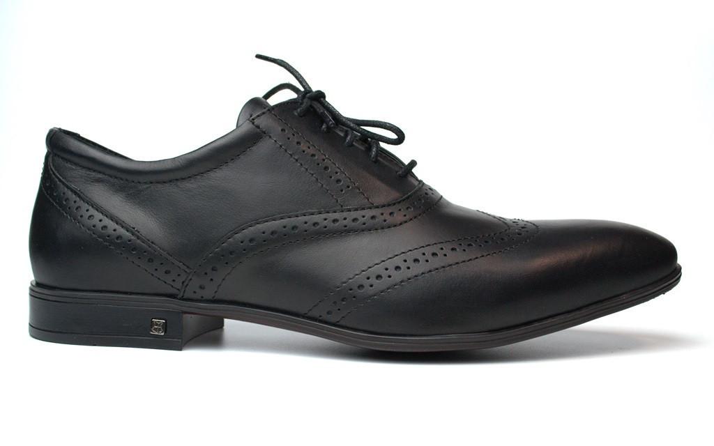 Lord Protector Rosso Avangard черные мужские большие туфли броги из натуральной кожи 50 размера