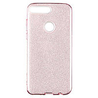Чехол Remax Glitter Silicon Case Huawei Y7 Prime (2018) Pink