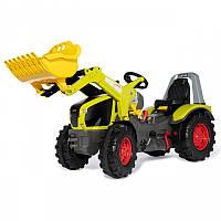 Детский педальный трактор X-Track Claas Rolly Toys 651122. Машинка для детей