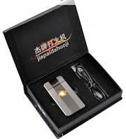 "Электроимпульсовая USB зажигалка ""Apple"" №4342 silver"