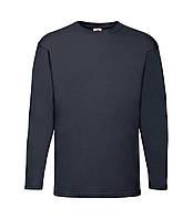Мужская футболка с длинным рукавом темно-синяя 038-AZ