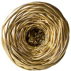 Трикотажная пряжа Pastel XL Металлик Золото 5-8 мм (55 м)