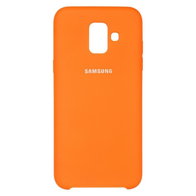 Чехол Original Soft Case Samsung A600 (A6-2018) Orange (38)