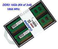 Память DDR3 16GB 1866 (Kit 2 х 8Gb) ДДР3 16 Гб Комплект PC3-14900 Cyborg 1866 MHz Intel/AMD (CD3F1866T10/16)