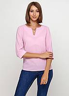 Блузка женская свободного покроя с рукавом 3/4 (светло-розовый), фото 1