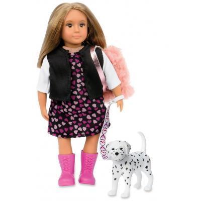 Кукла LORI Гиа с собачкой Далматинец 15 см (LO31058Z)