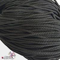 Полиэфирный шнур для вязания, 3 мм, черный