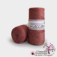 Пряжа Maccaroni PP Макраме с глитером, 1318, карминный