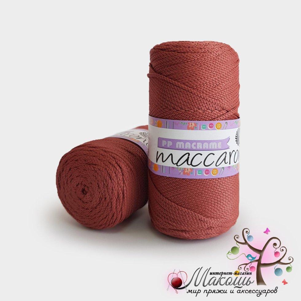 Пряжа Maccaroni PP Макраме, 307, карминный
