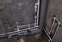 Монтаж канализационного стояка. Киев
