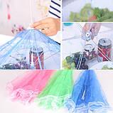 Зонтик- сетка для защиты продуктов от насекомых d65, h24 см малиновый, фото 5