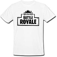 "Футболка Fortnite Battle Royale ""Logo"" (белая)"