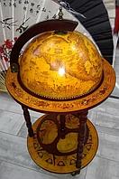 Глобус бар напольный на 3-х ножках (диаметр сферы 360 мм) коричневый