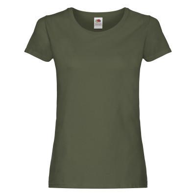 Футболка женская из хлопка на лето оливкового цвета - XS, S, XL, 2XL