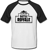 "Футболка Fortnite Battle Royale ""Logo"" (белая с чёрными рукавами)"
