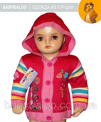 Кофта для девочки на пуговицах капюшон(от 1 до 3 лет), фото 2