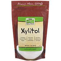 """Ксилитол NOW Foods, Real Food """"Xylitol"""" сахарозаменитель (454 г)"""