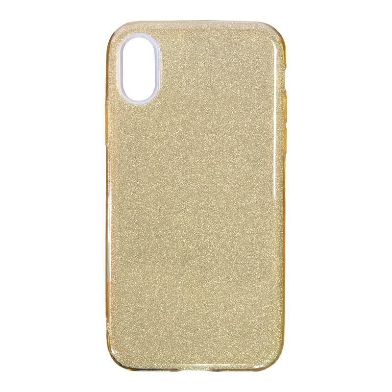 Чехол Remax Glitter Silicon Case iPhone XS Max Gold