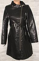 """Куртка-плащ женская кожзам косуха, размер S-2XL (Китай) """"HESTOVR"""" купить недорого от прямого поставщика"""