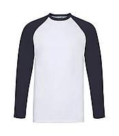 Мужская футболка с длинным рукавом темно-синяя 028-WЕ