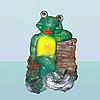 Фигура для дома и сада Лягушонок на скамейке