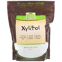 """Ксилитол NOW Foods, Real Food """"Xylitol"""" сахарозаменитель (1134 г)"""