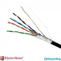 Кабель FTP cat5e 4х2х0,51 CU ПЕ EH.LAN-32 черный с проволокой ElectroHouse