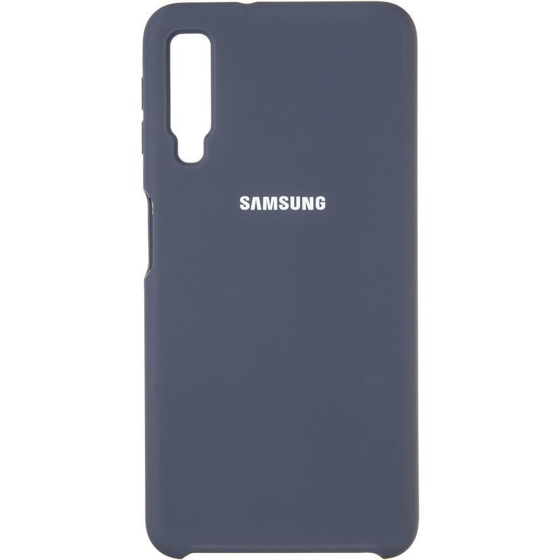 Чехол Original 99% Soft Matte Case for Samsung A750 (A7-2018) Dark Blue
