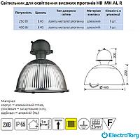 Светильник  HB MH 400 Вт Е40 AL R  (алюминий рифленый) DELUX